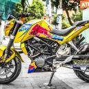 Tem xe KTM – DUKE –  Tem xe thiết kế Redbull candy vàng