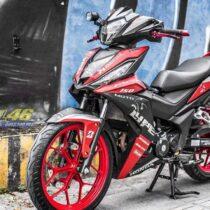 Tem xe Winner 150 - 266 - Tem xe thiết kế Moto Life nhôm đỏ đen