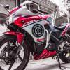 Tem xe CBR150 - 5 - Tem xe thiết kế Motocross candy trắng đỏ