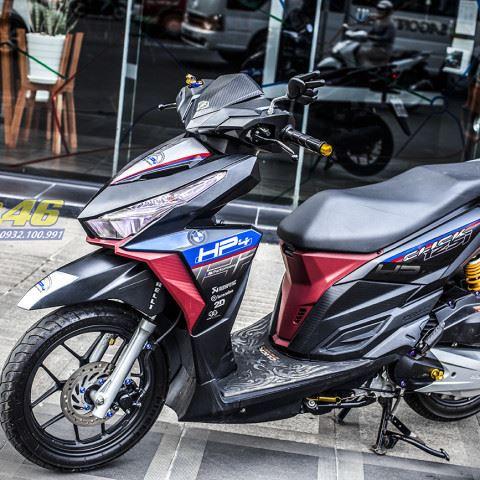 Tem xe Honda Click - 015 - Tem xe thiết kế HP4 nhôm