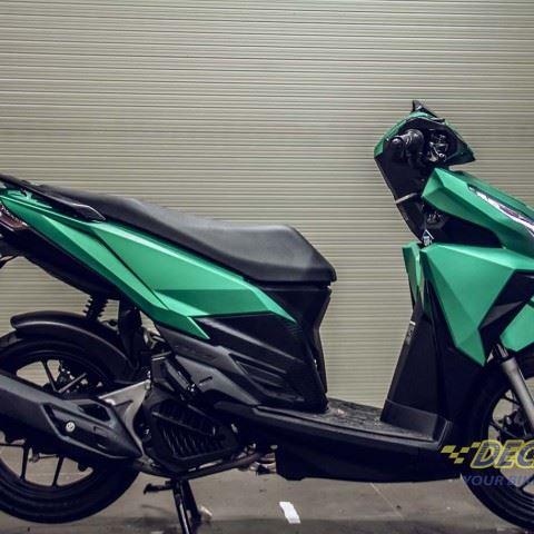 Tem xe Honda Click - 022 - Tem xe thiết kế Xanh ngọc xước