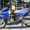 Tem xe Honda Click - 023 - Tem xe thiết kế Xanh nhôm