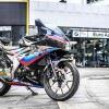 Tem xe GSX R150 - Tem xe thiết kế BMW candy