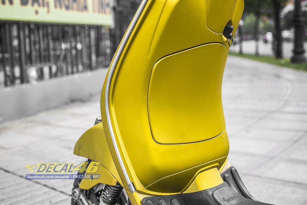 Tem xe Vespa - 2 - Tem xe thiết kế Vàng xước