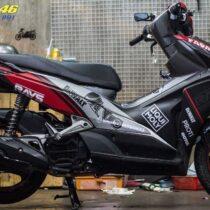 Tem xe Honda Airblade 2011 - 7 - Tem xe thiết kế Ohlins nhôm đỏ đen