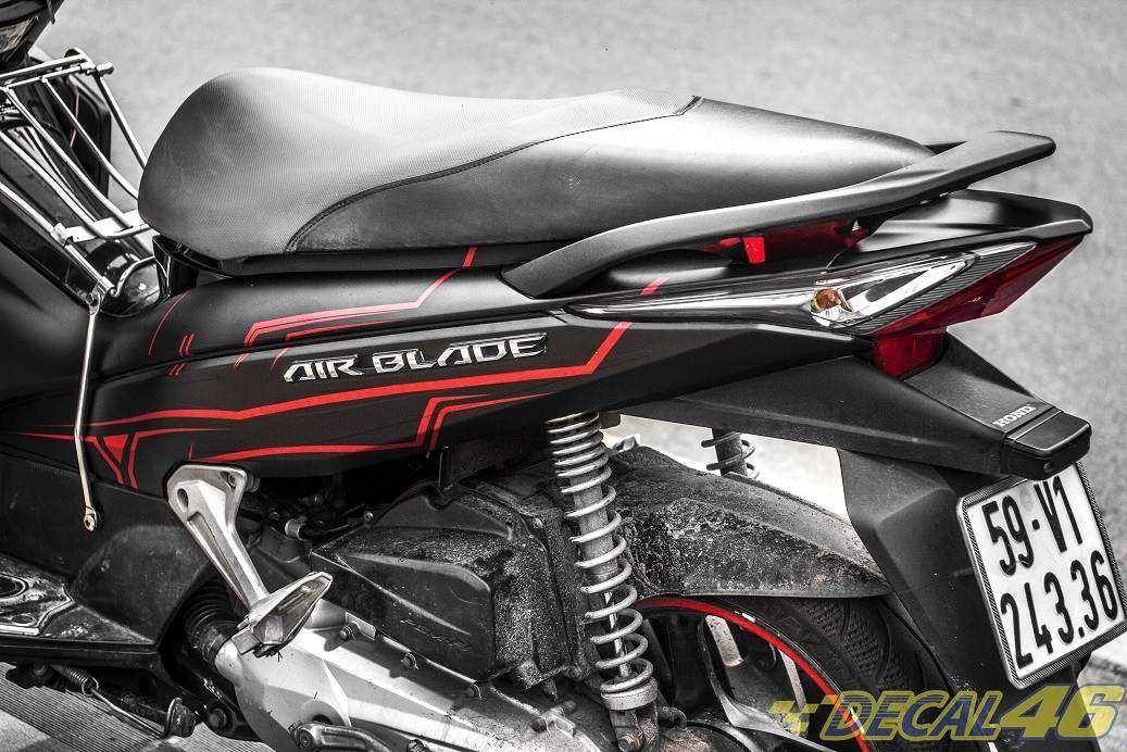 Tem xe Honda Airblade 2011 - 10 - Tem xe thiết kế Slider nhôm đỏ đen