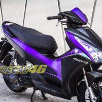 Tem xe Honda Airblade 2011 - 3 - Tem xe thiết kế đen tím xước