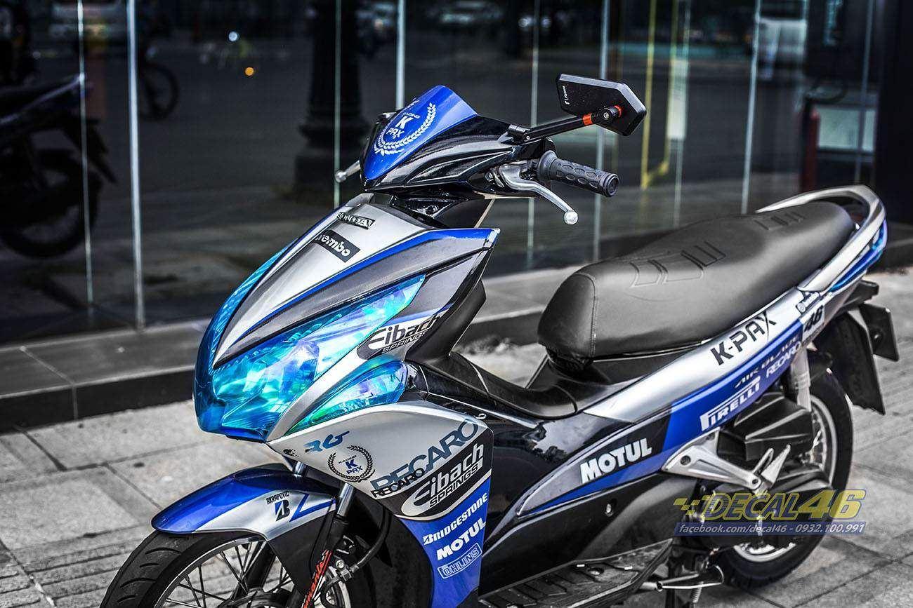 Tem xe Honda Airblade 2011 - 12 - Tem xe thiết kế Kpak candy xanh trắng