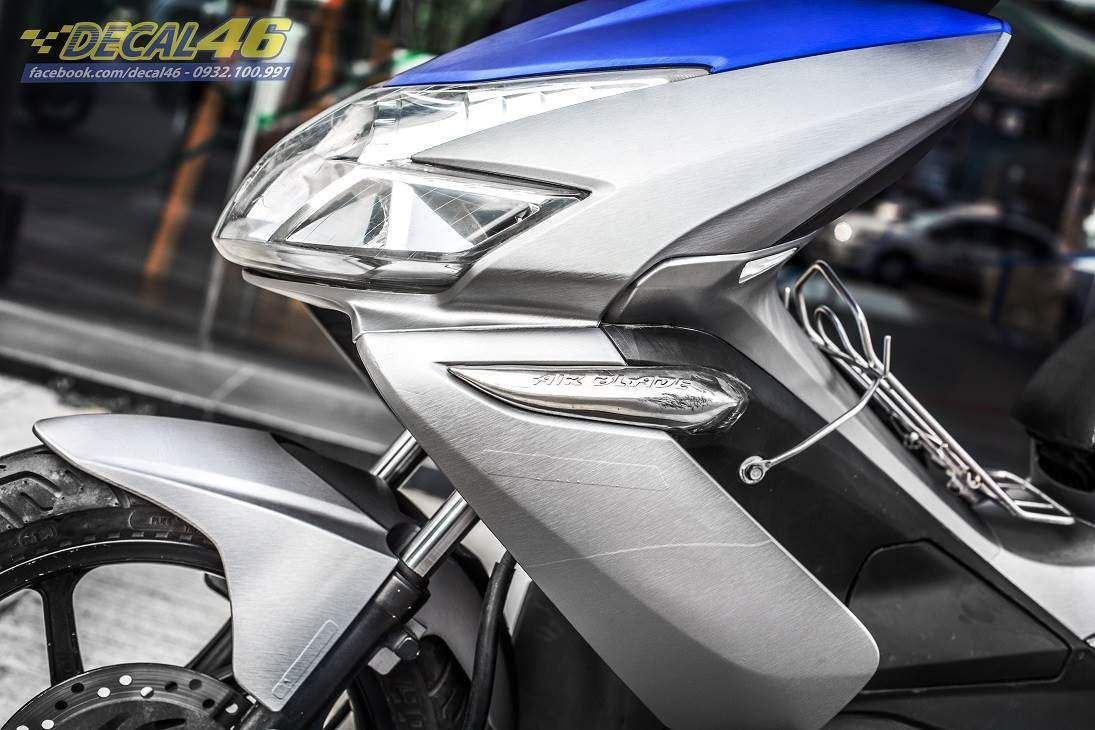 Tem xe Honda Airblade 2007 - 017 - Tem xe thiết kế Xước xám xanh