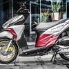 Tem xe Honda Click - 017 - Tem xe thiết kế Bạc xước