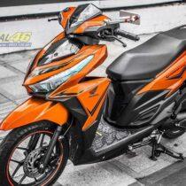 Tem xe Honda Click - 018 - Tem xe thiết kế candy cam đen