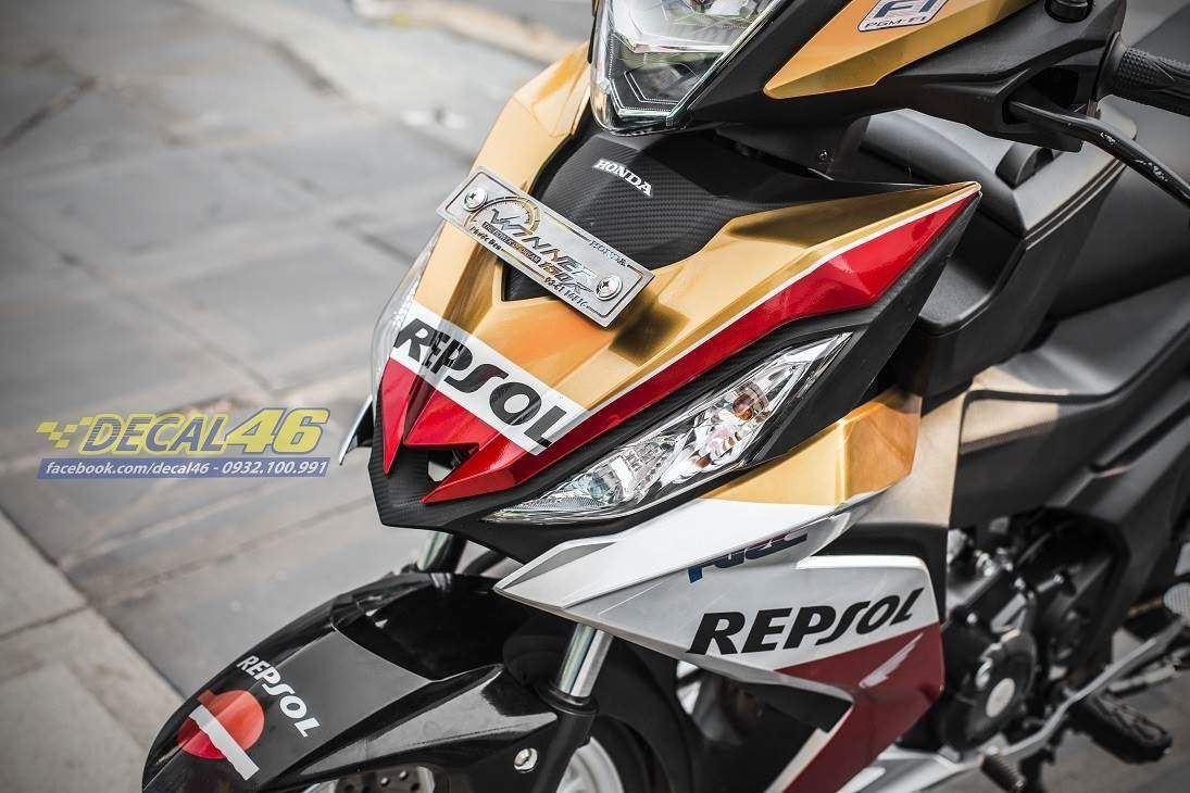 Tem xe Winner 150 - 279 - Tem xe thiết kế Repsol candy