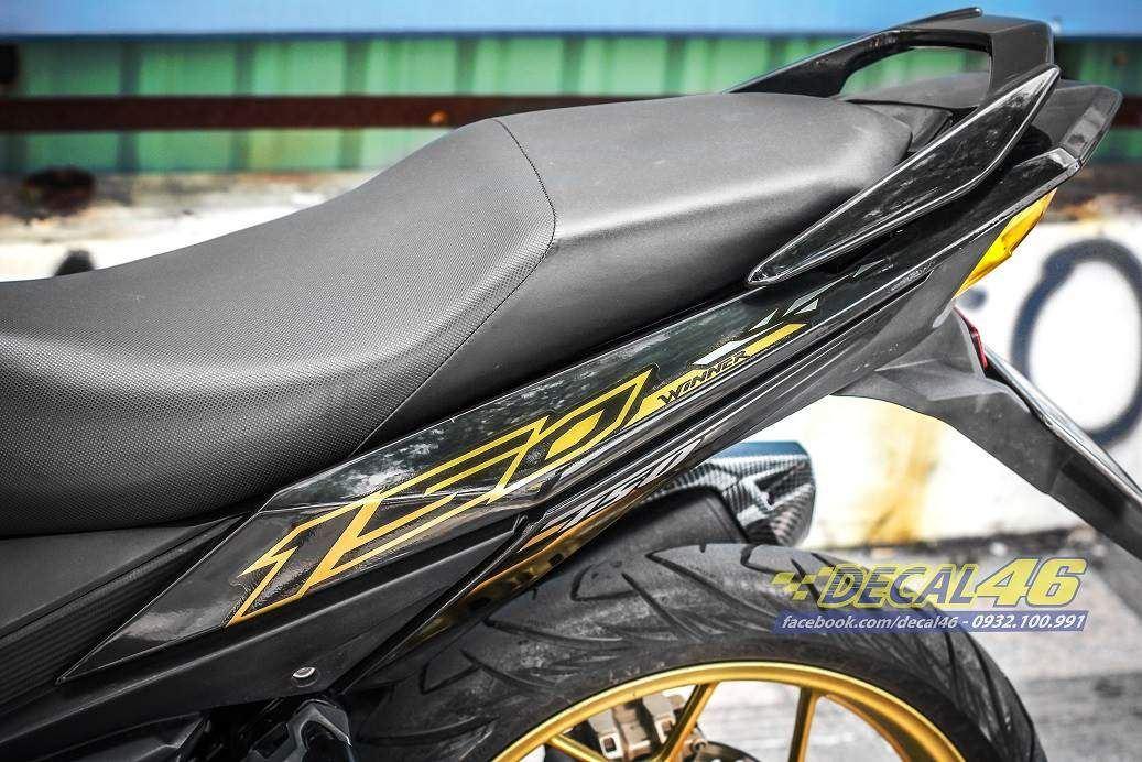 Tem xe Winner 150 - 277 - Tem xe thiết kế GTR candy vàng đen