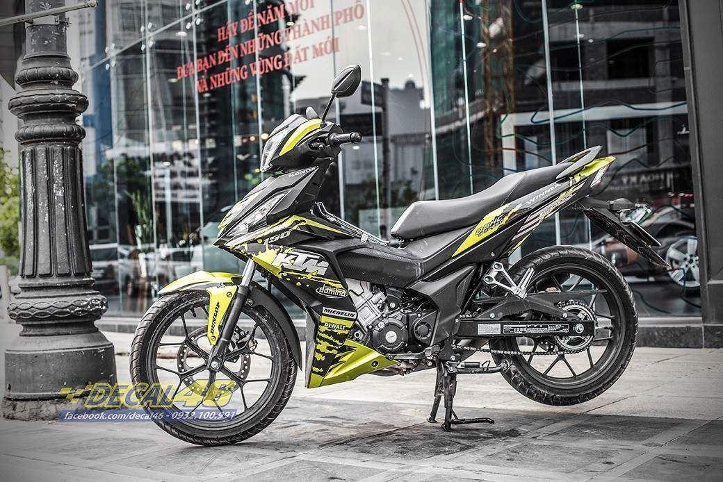 Tem xe Winner 150 - 283 - Tem xe thiết kế KTM nhôm vàng đen