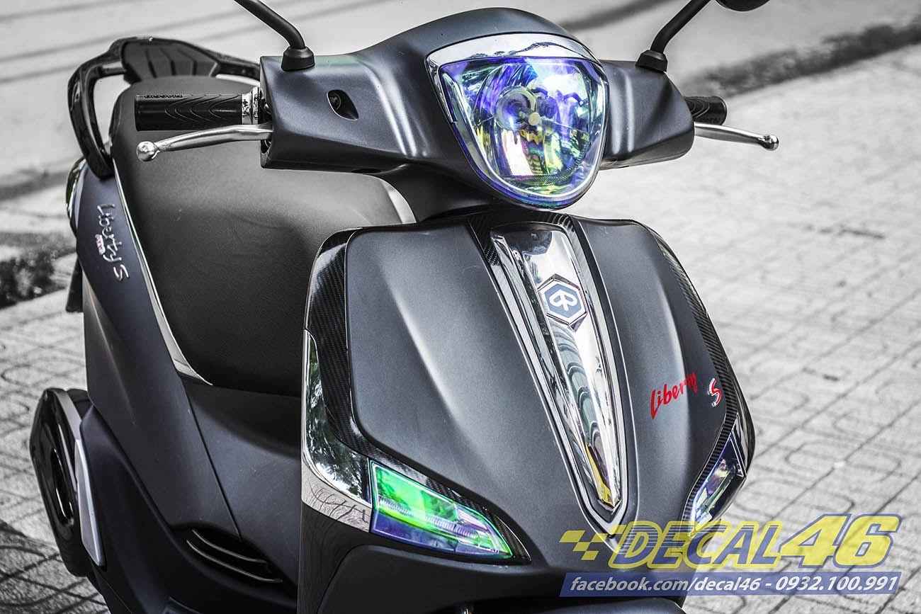 Tem xe Liberty - 1 - Tem xe thiết kế ABS nhôm đen