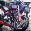 Tem xe PKL - Tem xe Benelli thiết kế Lap The nhôm đỏ đen