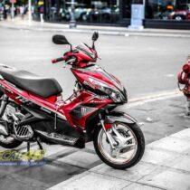 Tem xe Honda Airblade 125 - 043 - Tem xe thiết kế DUKE candy đỏ đen