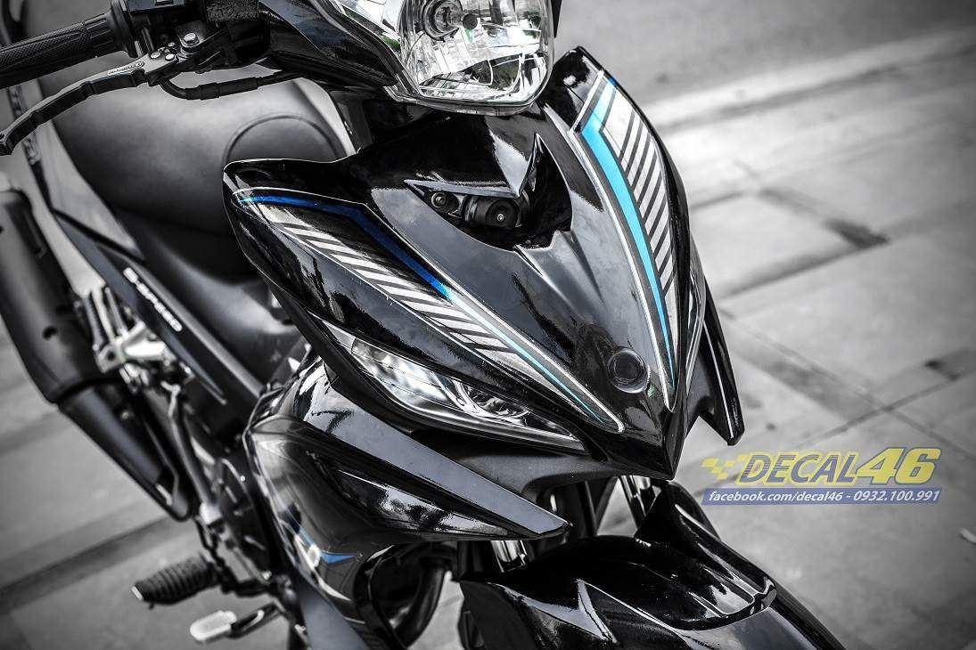 Tem xe Exciter 135 - 230 - Tem xe thiết kế MX chrome xanh đen