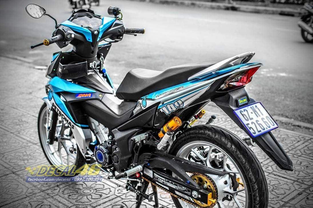 Tem xe Winner 150 - 302 - Tem xe thiết kế Petronas candy xanh trắngTem xe Winner 150 - 302 - Tem xe thiết kế Petronas candy xanh trắng