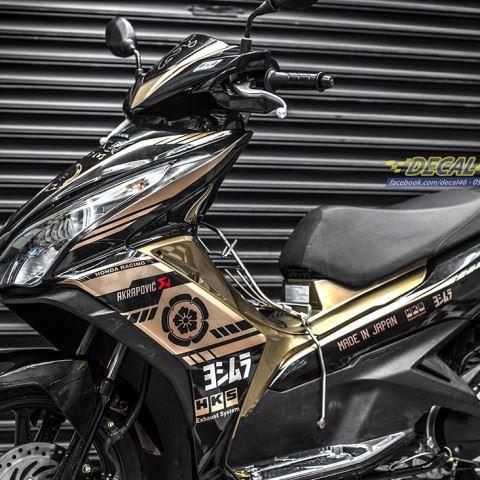 Tem xe Honda Airblade 2011 - 13 - Tem xe thiết kế R1 vàng đen candy