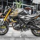 Tem xe PKL – Tem xe MT-03 thiết kế Chrome vàng đen