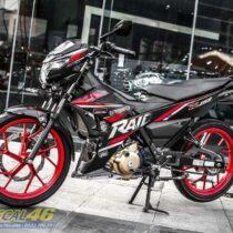 Tem xe Raider 150 - 039 - Tem xe thiết kế R150 chrome đen đỏ