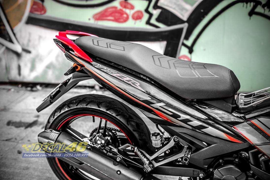 Tem xe Exciter 150 – 431 – Tem xe thiết kế zin Malay candy đen đỏ