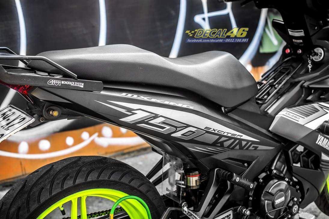 Tem xe Exciter 150 – 433 – Tem xe thiết kế MXKing Indo nhôm xám đen