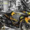 Tem xe PKL - Tem xe Ninja 400 thiết kế Vàng bạc đen zin