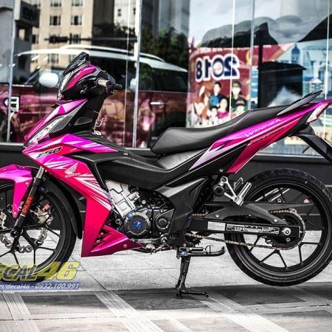 Tem xe Winner 150 - 304 - Tem xe thiết kế ZIN candy hồng