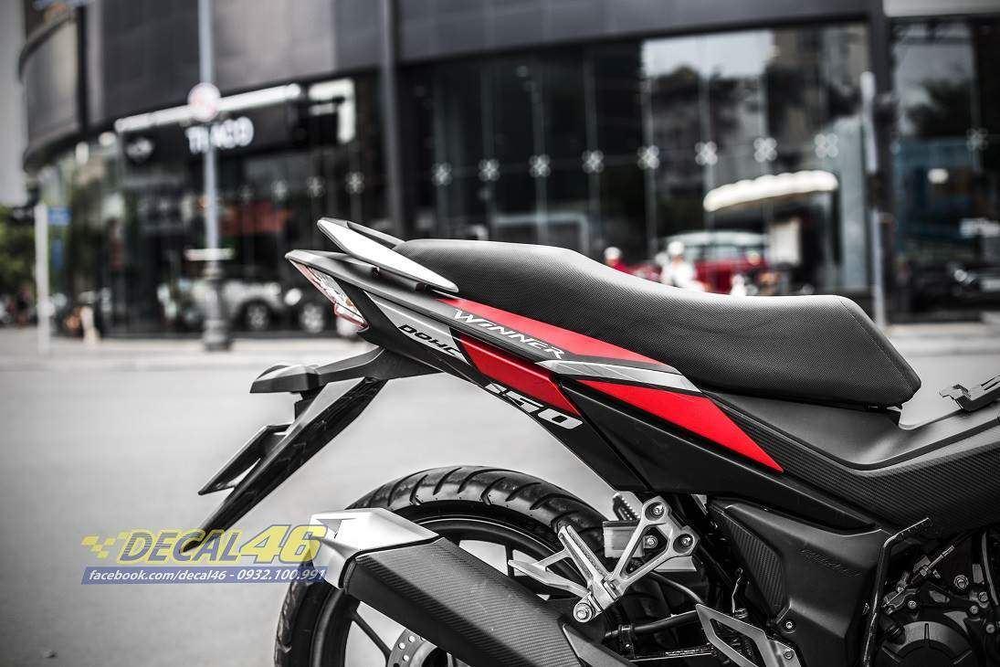 Tem xe Winner 150 - 315 - Tem xe thiết kế RAYS nhôm đen đỏ