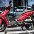 Tem xe Honda Dylan – 004 – Tem xe thiết kế Clock đỏ nhôm
