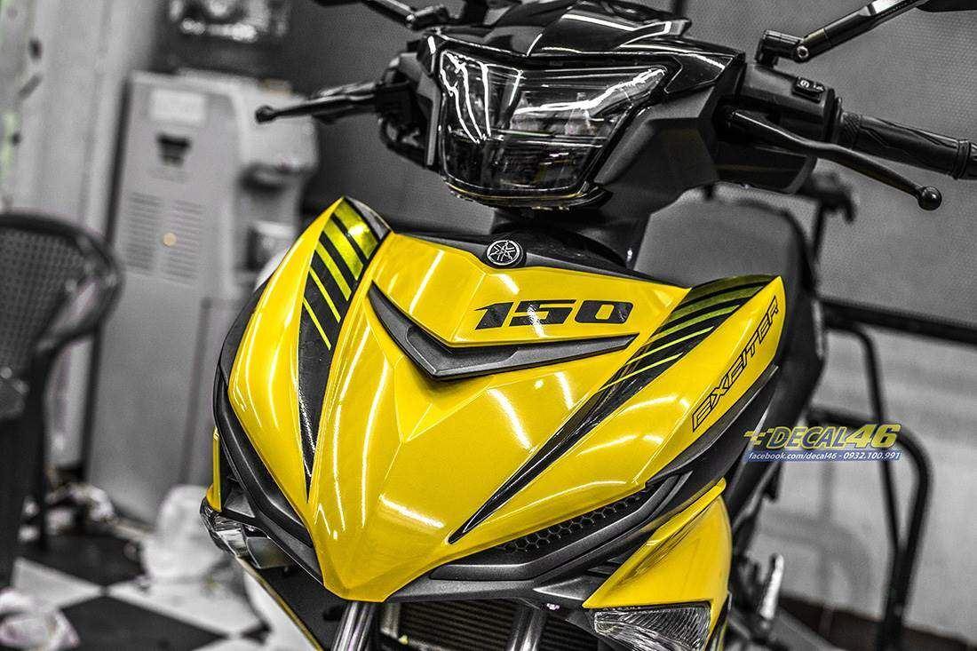 Tem xe Exciter 150 – 436 – Tem xe thiết kế MX King chrome vàng đen