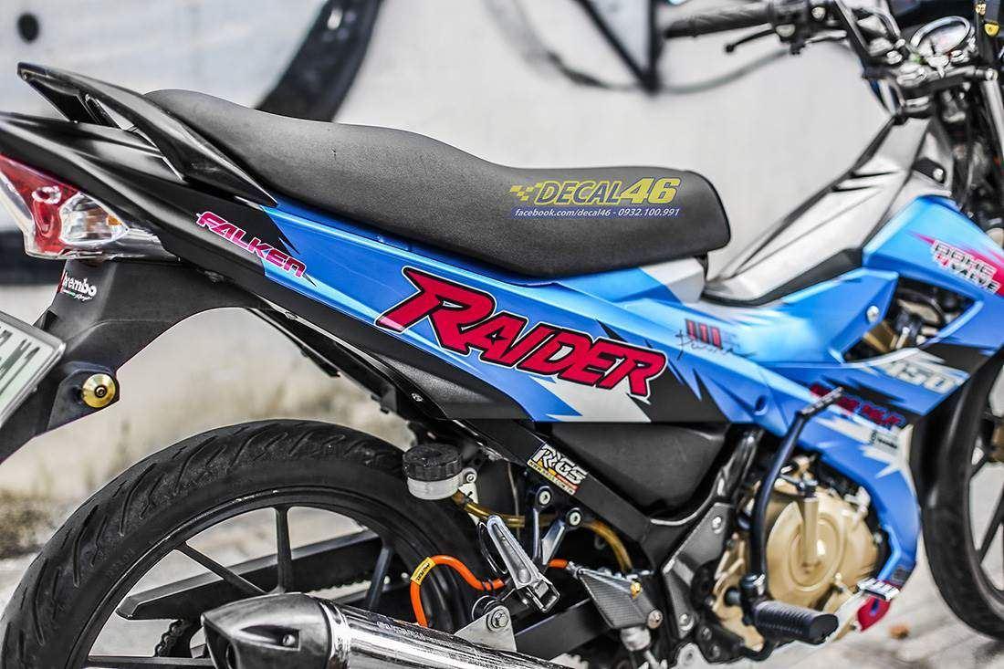 Tem xe Raider 150 - 041 - Tem xe thiết kế R150 Falken xanh đen đỏ