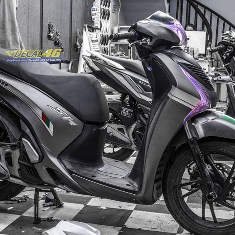 Tem xe Honda SH 150 Italia - Tem xe thiết kế Xám đen