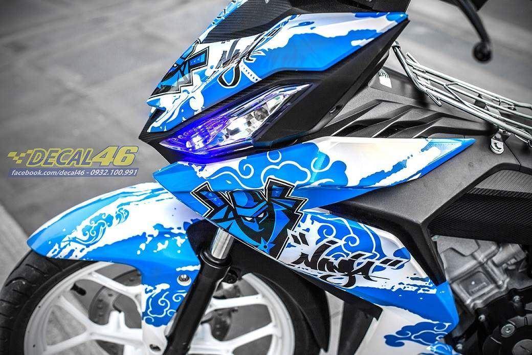 Tem xe Winner 150 - 312 - Tem xe thiết kế Ninja ngọc trai xanh trắng