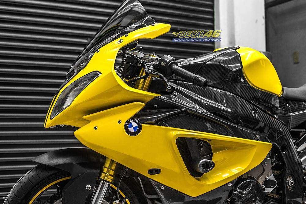 Tem xe PKL - Tem xe BMW S1000RR thiết kế Glossy vàng