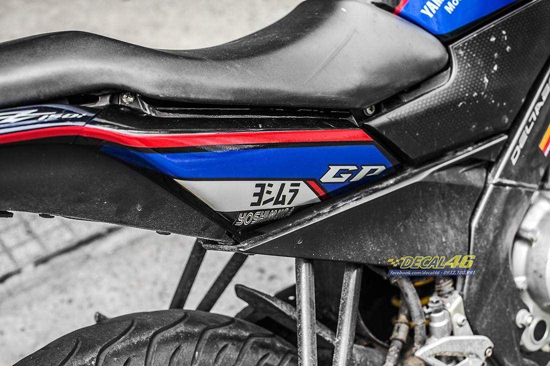 Tem xe FZ150i - 079 - Tem xe thiết kế BMW candy đen