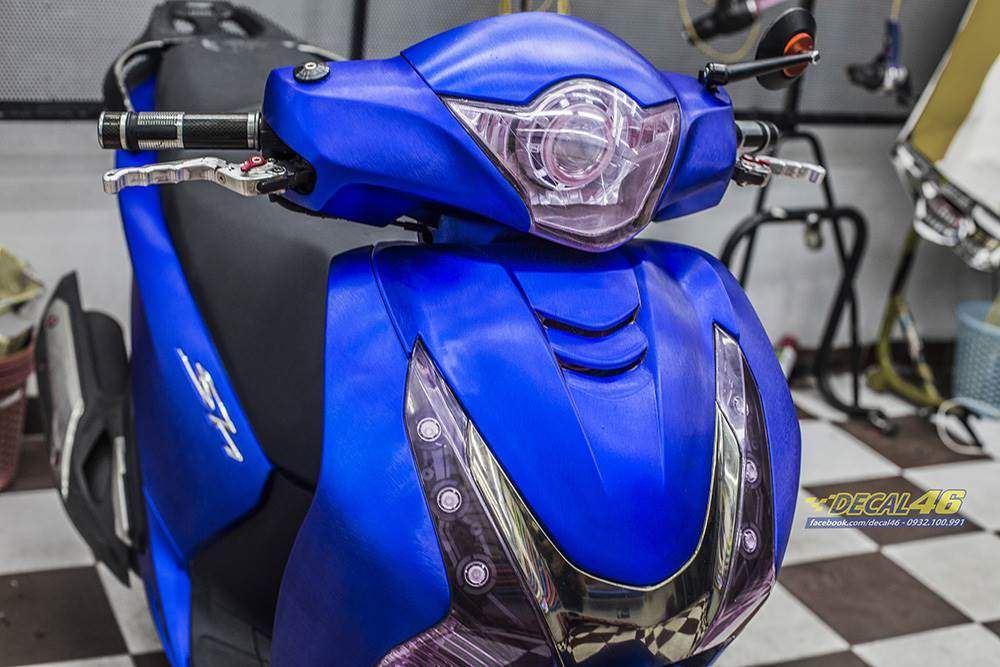 Tem xe Honda SH 150 Italia - Tem xe thiết kế Xanh xước