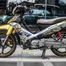 Tem xe Yamaha Sirius – 227 – Tem xe thiết kế Minion vàng candy