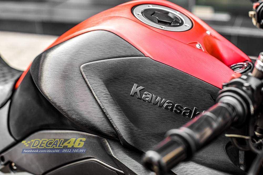 Tem xe PKL - Tem xe Z1000 thiết kế Đen đỏ xước