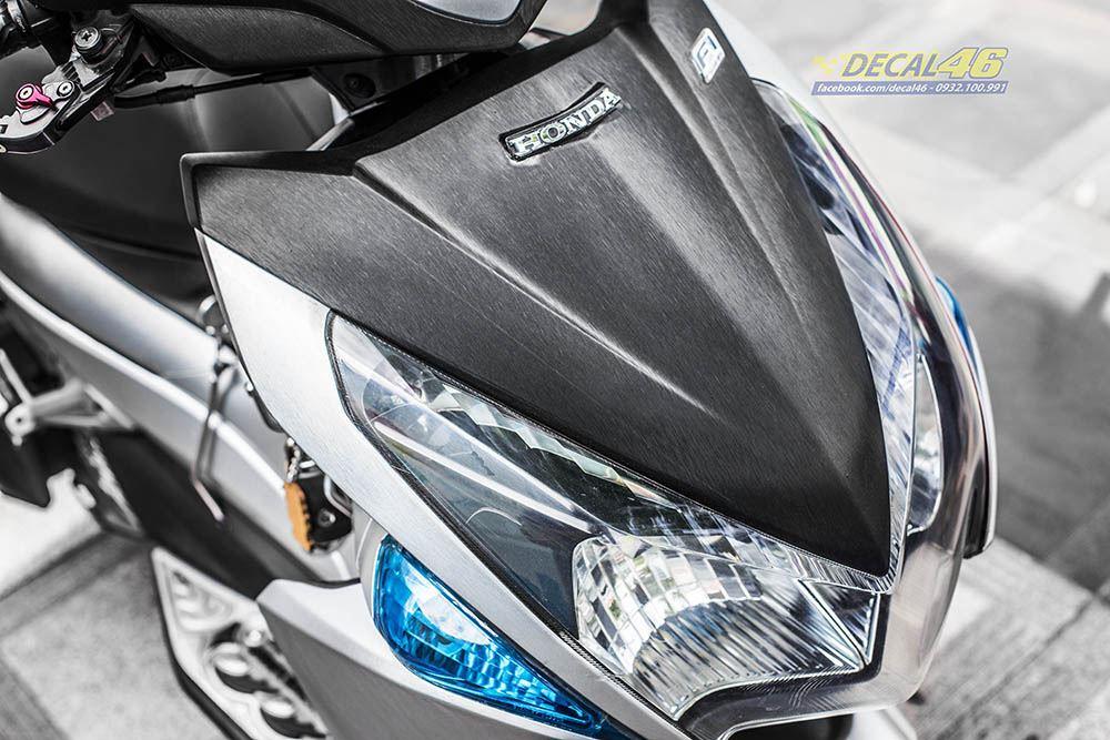 Tem xe Honda Airblade 2011 - 14 - Tem xe thiết kế Bạc đen xước