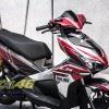 Tem xe Honda Airblade 2016 - 068 - Tem xe thiết kế Kiến Ohlins candy đỏ đen