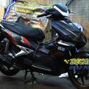 Tem xe Honda Airblade 2007 – 026 – Tem xe thiết kế Falken nhôm đen