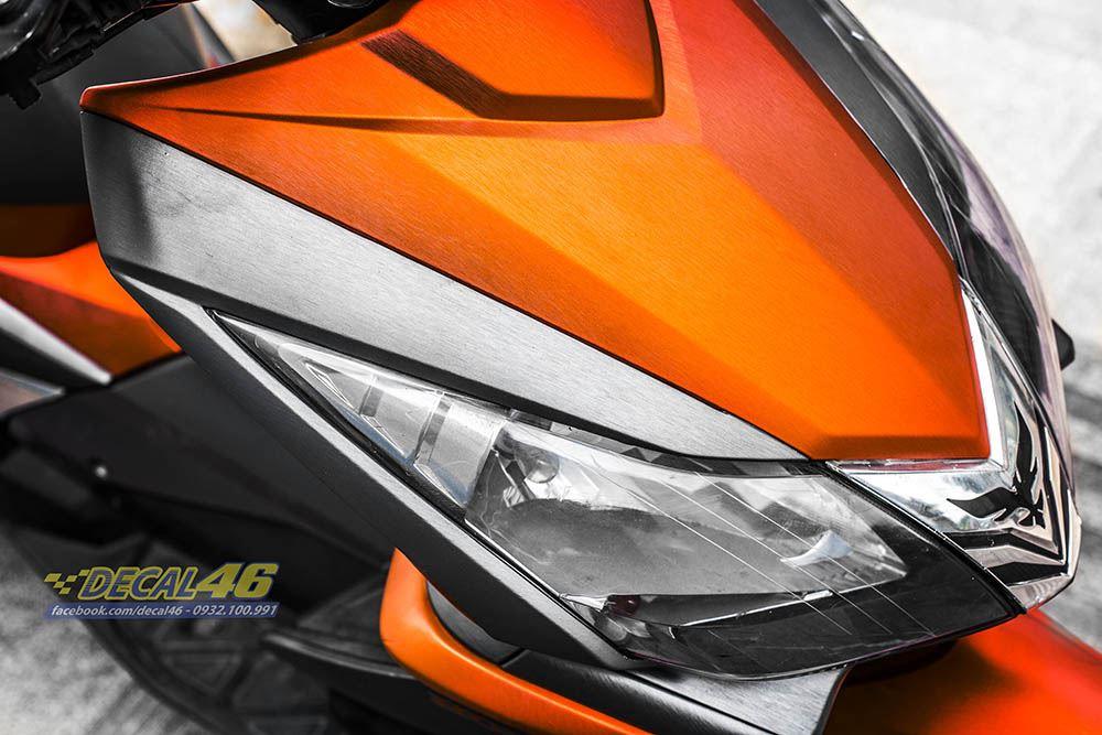 Tem xe Honda Airblade 2007 - 022 - Tem xe thiết kế Cam xám xước