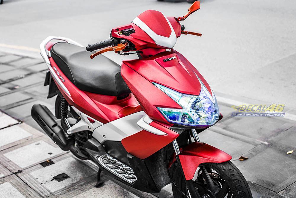 Tem xe Honda Airblade 2007 - 025 - Tem xe thiết kế Đỏ xướcTem xe Honda Airblade 2007 - 025 - Tem xe thiết kế Đỏ xước