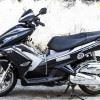 Tem xe Honda Airblade 125 - 054 - Tem xe thiết kế Matte black bạc nhôm