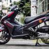 Tem xe Honda Airblade 125 - 057 - Tem xe thiết kế Racing nhôm đỏ đen