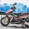 Tem xe Honda Airblade 125 - 050 - Tem xe thiết kế HRC nhôm Đỏ đen