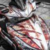 Tem xe Honda Airblade 125 - 059 - Tem xe thiết kế Rỉ sét nhôm